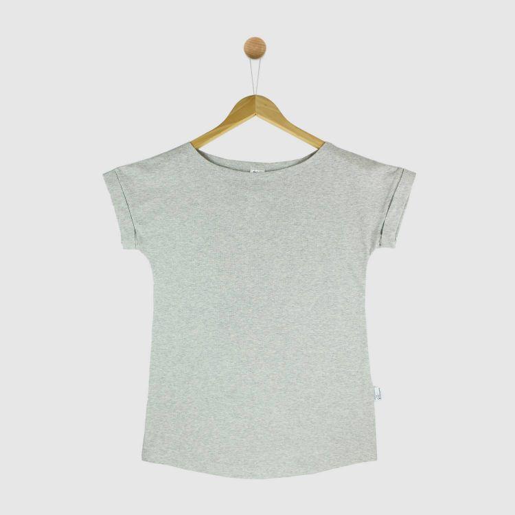 Uni-CasualWomanShirt 2.0 Grau-Meliert