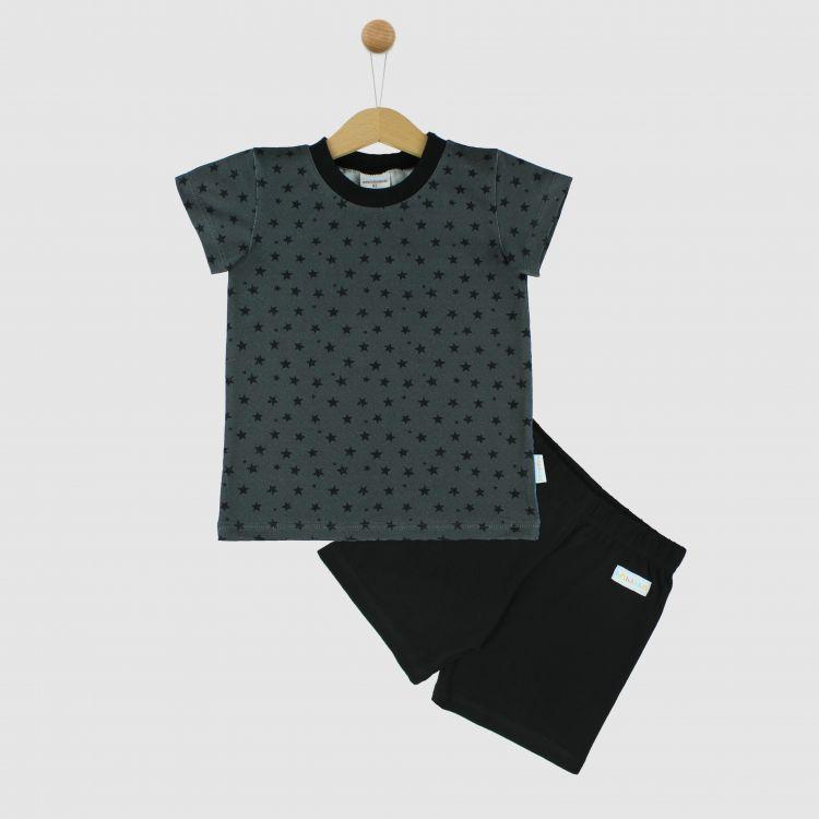 Pyjama-Set-Shortstyle NightSky-Grey