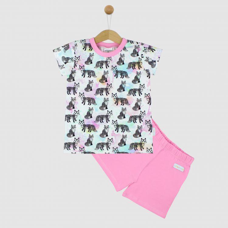 Pyjama-Set-Shortstyle ColorfulFoxes