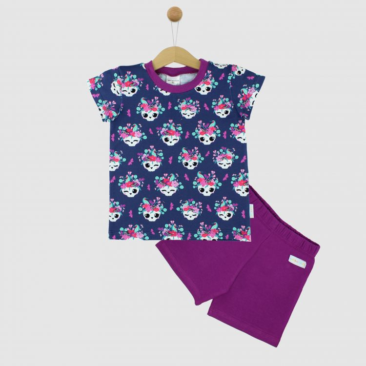 Pyjama-Set-Shortstyle SkullBeauty