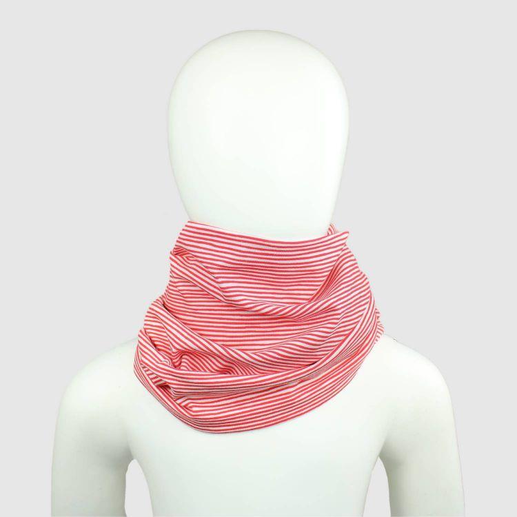 Woman-Loop-Schal Stripes-RedWhite