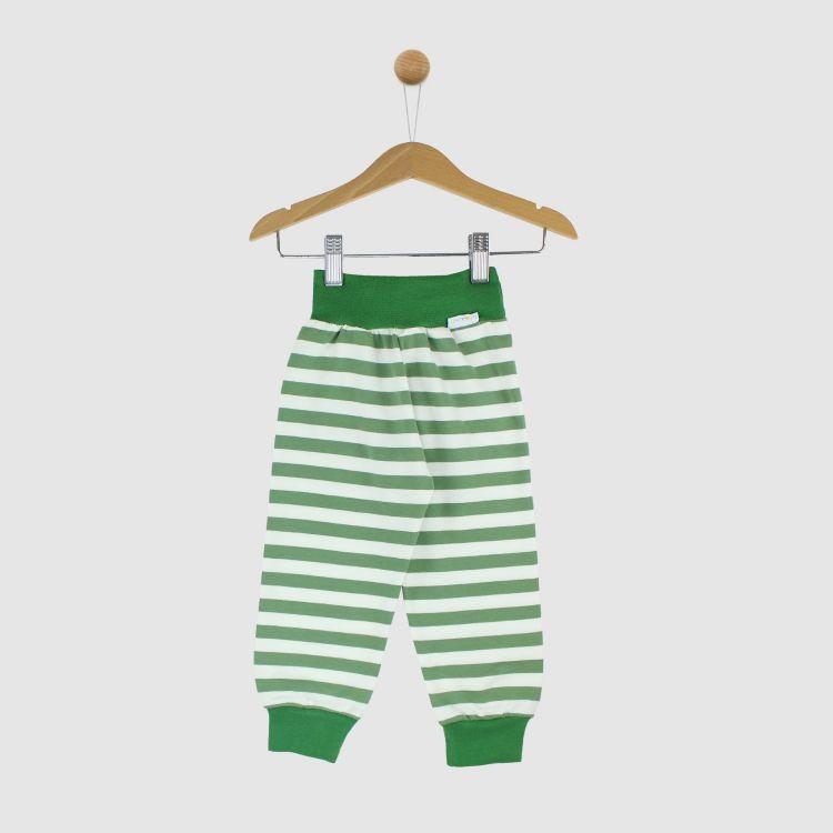 Sweat-Widepants Stripes-Olivgrün