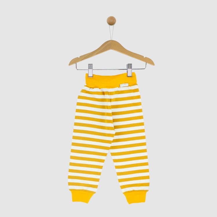 Sweat-Widepants Stripes-Currygelb