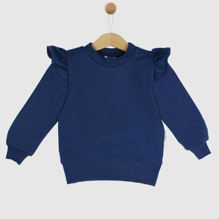 Uni-Volantsweater Dunkelblau