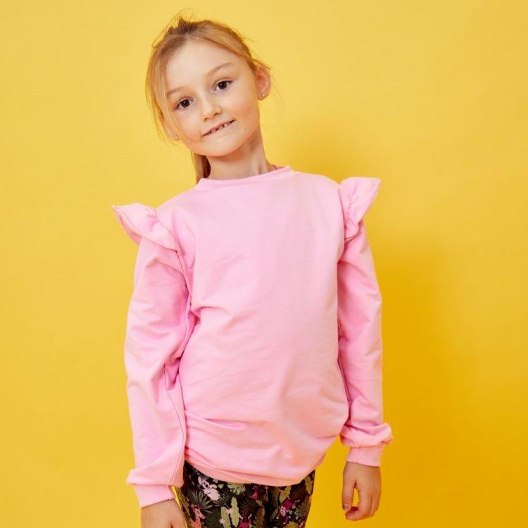 Uni-Volantsweater Babyrosa