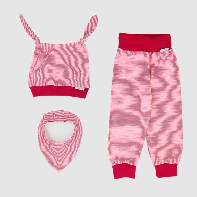 Erstlingsset 3-Teilig Stripes-Pink