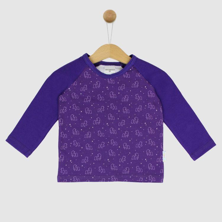 Langarm-Raglanshirt PurpleUnicorn