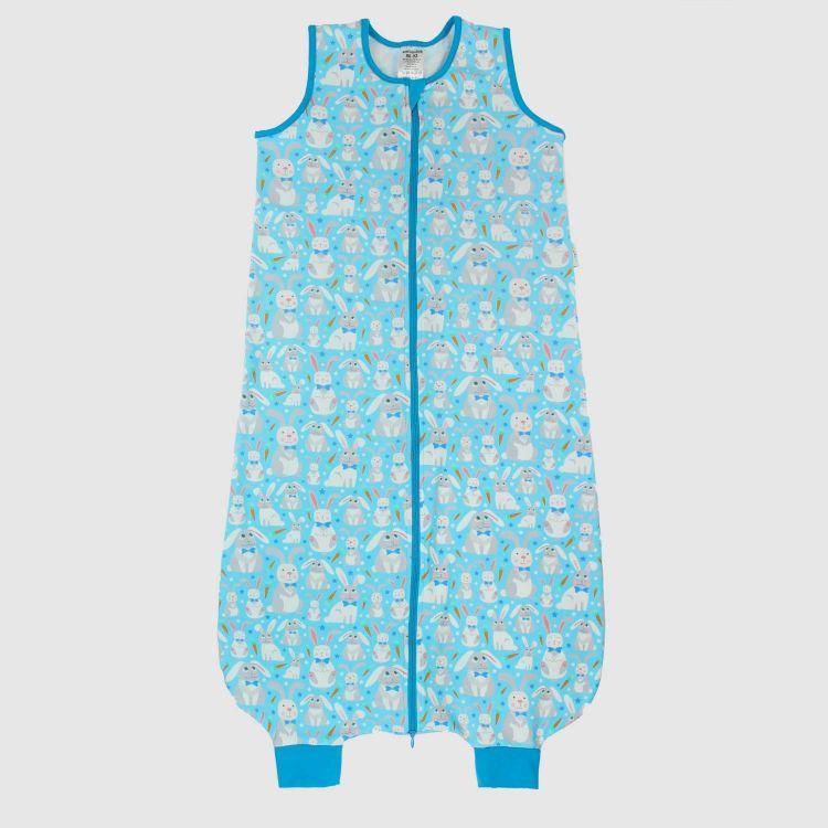 Füßchenschlafsack einlagig SweetBunnies-Blue