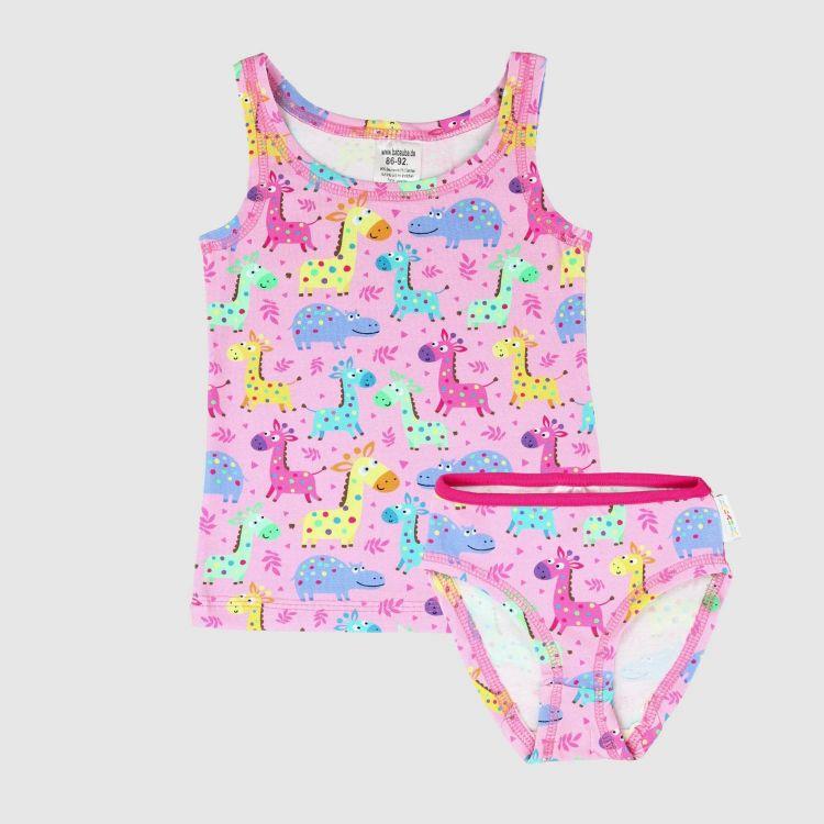 Underwear-Set-Girls LittleSafari-Pink