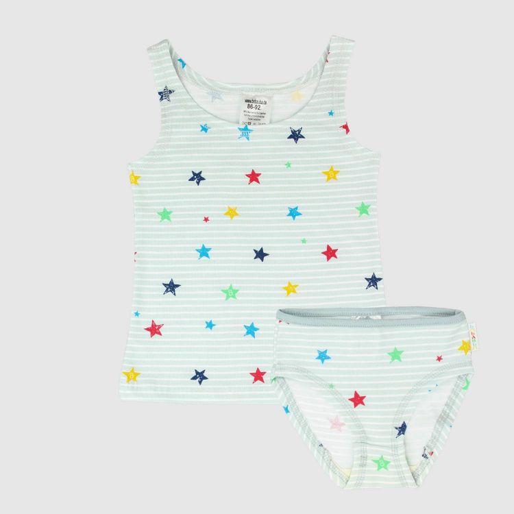 Underwear-Set-Girls RainbowStars-GreyStripes