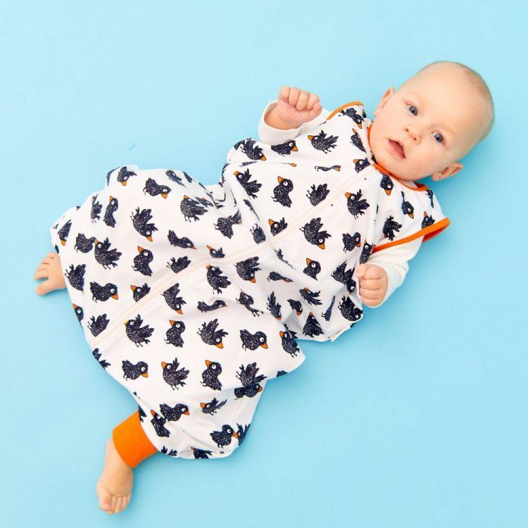 Füßchenschlafsack einlagig CuteCrows