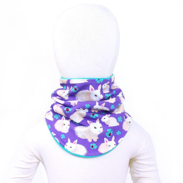 Winter-Loop-Schal FluffyBunnies-Purple