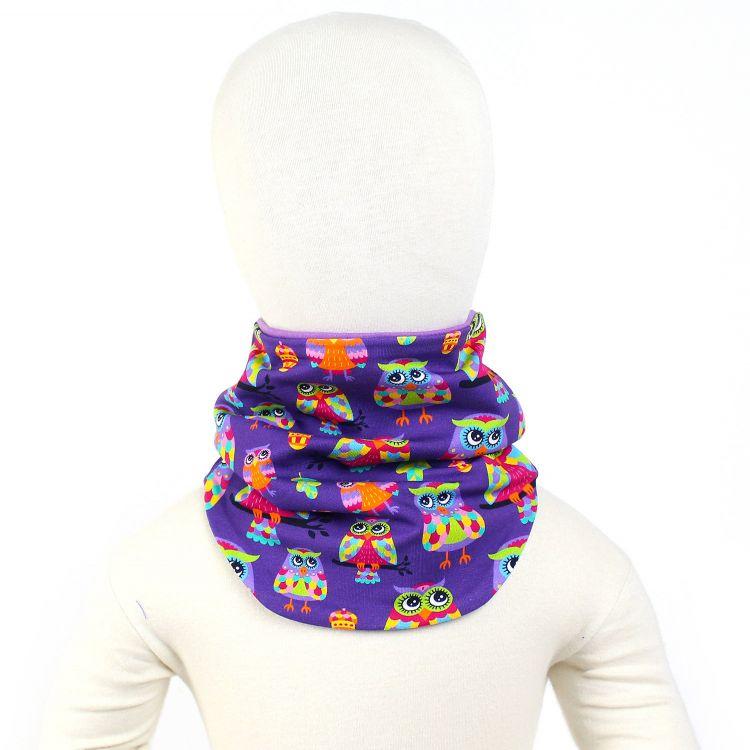 Winter-Loop-Schal ColorfulHoots-Purple