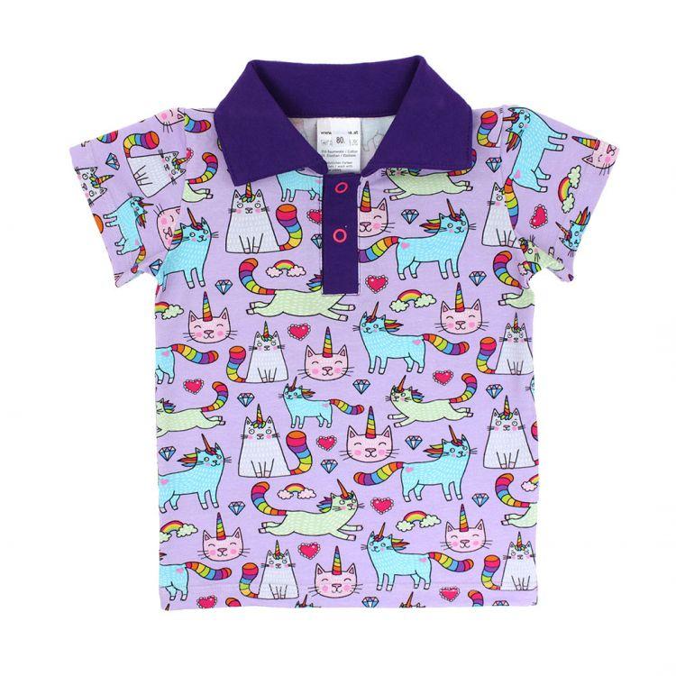 Poloshirt BabaubaUnicornCats-Pink