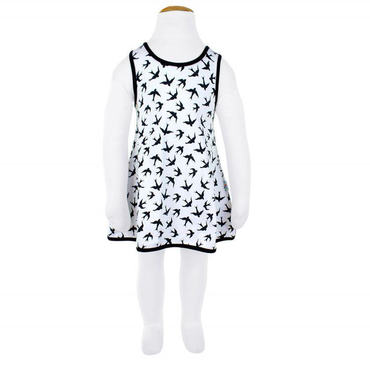 LittleMissSunshine-Dress LovelySwallows-White