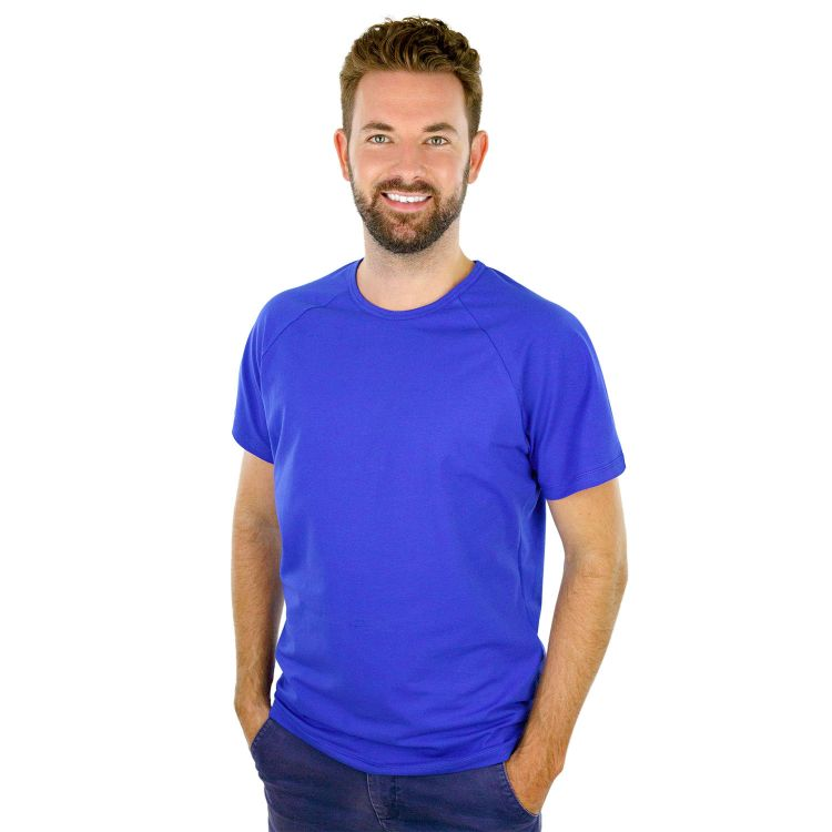 Uni-Man-Raglanshirt kurzarm Königsblau