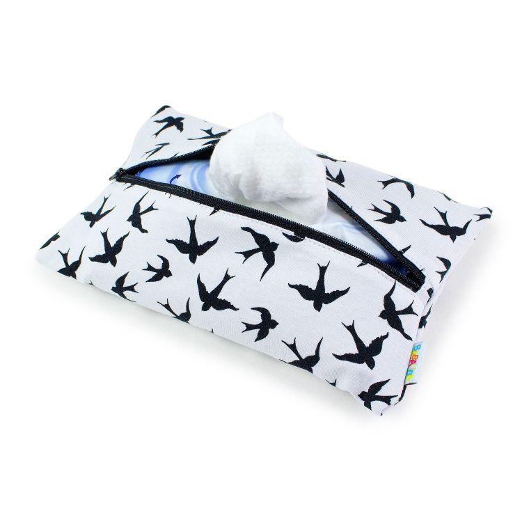 Feuchttüchertasche LovelySwallows-White