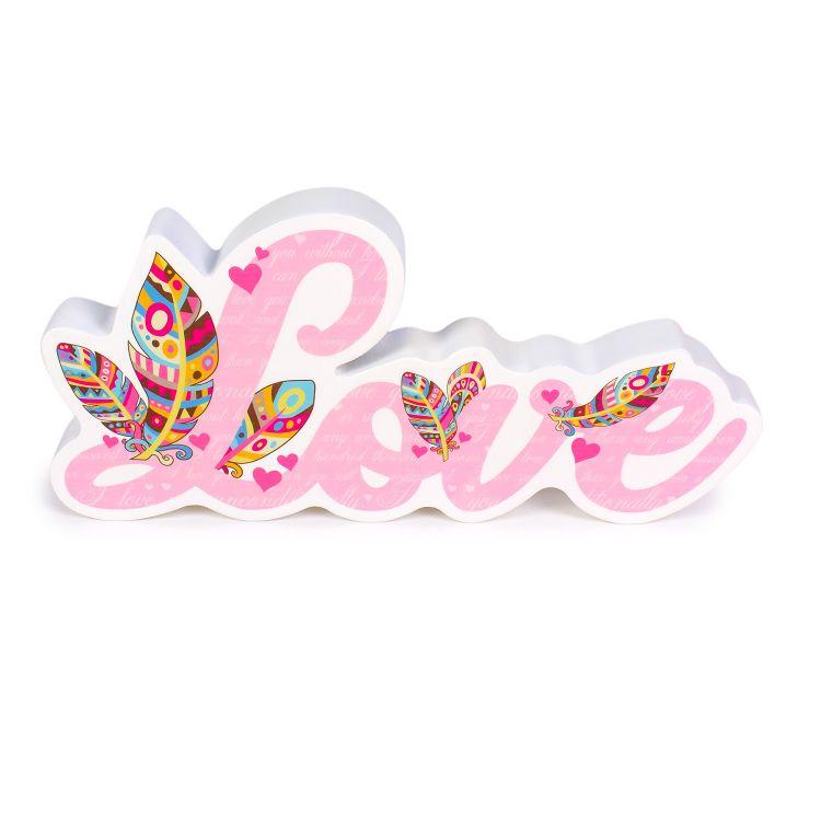 3D-Schriftzug Love UnconditionalLove-Pink