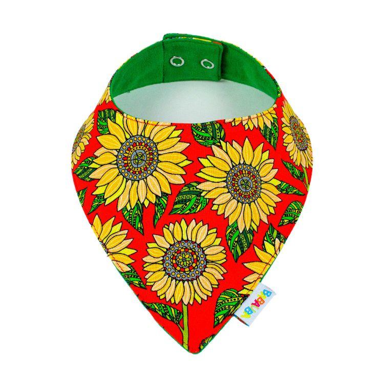 Dreieckstuch Sunflowers-Red