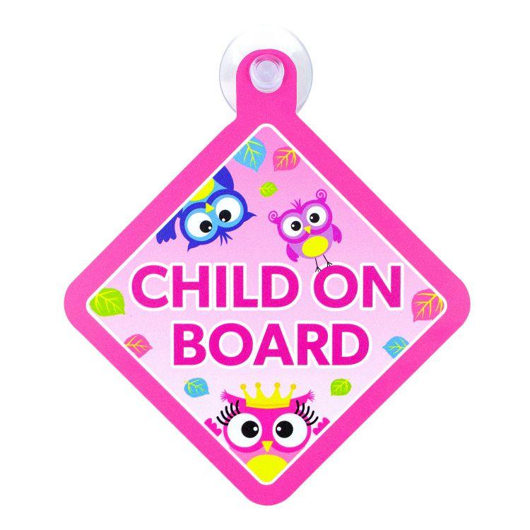ChildOnBoard BabaubaHoots-Pink