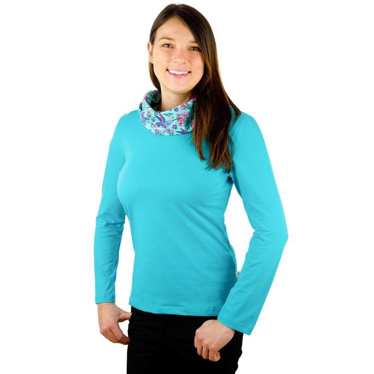 Woman-Loop-Pullover Hummingbirds-Blue