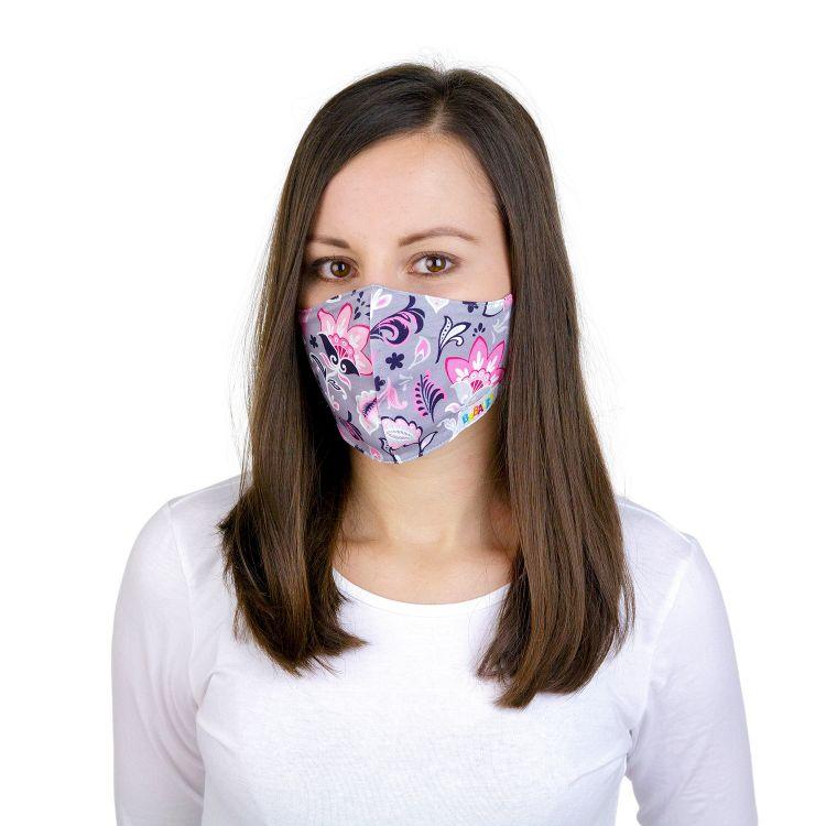 Mund- und Nasenmaske für Erwachsene mit Band - PaisleyFlowers