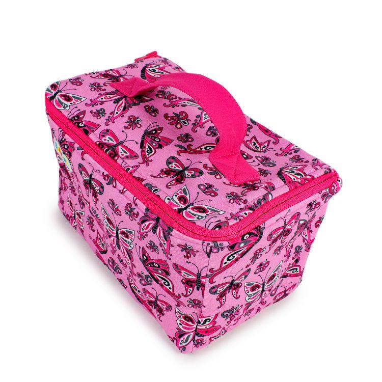 Kulturtasche PrettyButterflies-PinkAndBlack