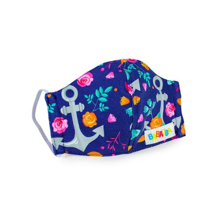 Mund- und Nasenmaske für Kinder mit Gummi - RosesAndAnchors