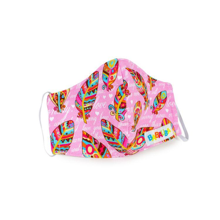 Mund- und Nasenmaske für Kinder mit Gummi - UnconditionalLove-Pink