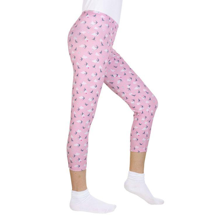 Woman-Capri-SkinnyPants LovelySwallows-Pink