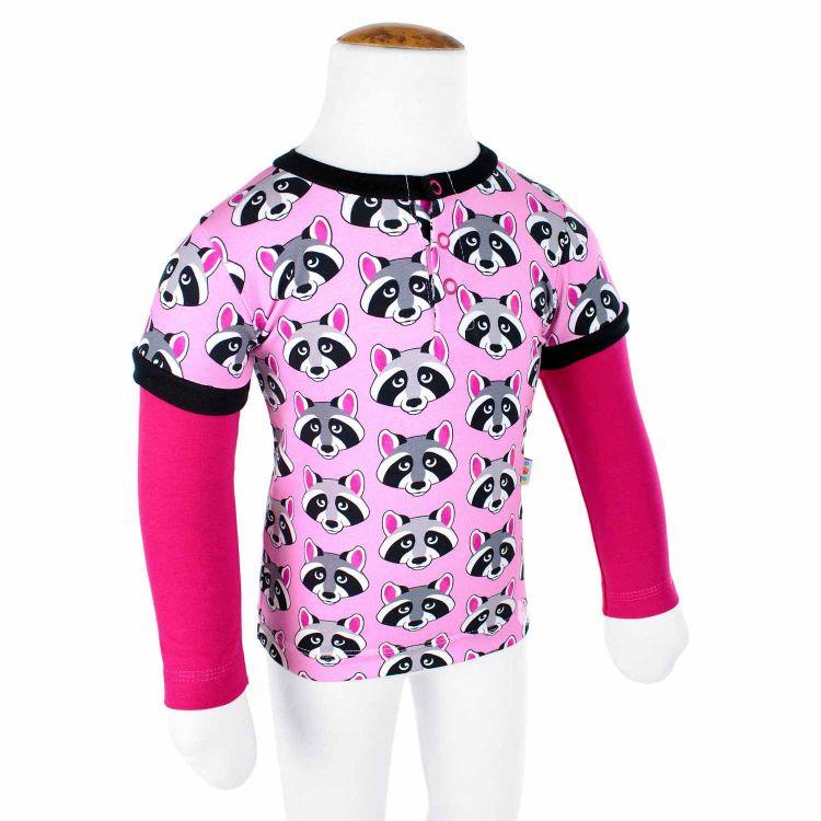 Langarm-T-Shirt RacoonStars-Pink