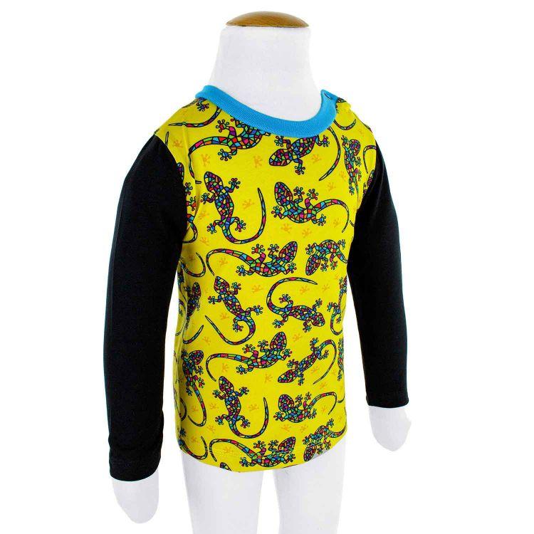 Langarmshirt DiamantSalamander-Yellow