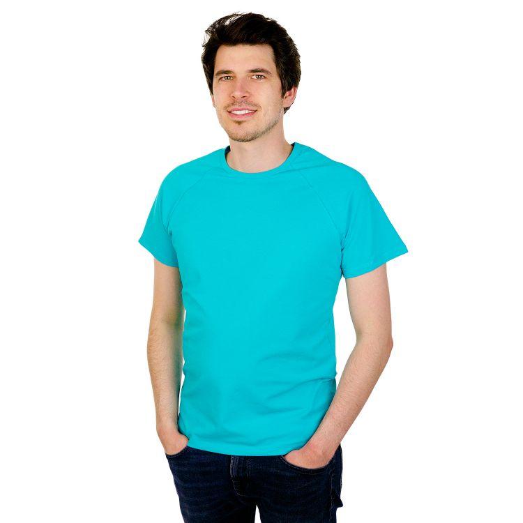Uni-Man-Raglanshirt kurzarm Türkisgrün