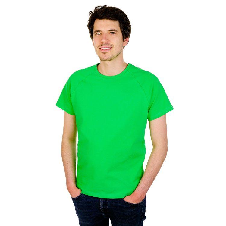 Uni-Man-Raglanshirt kurzarm Grasgrün