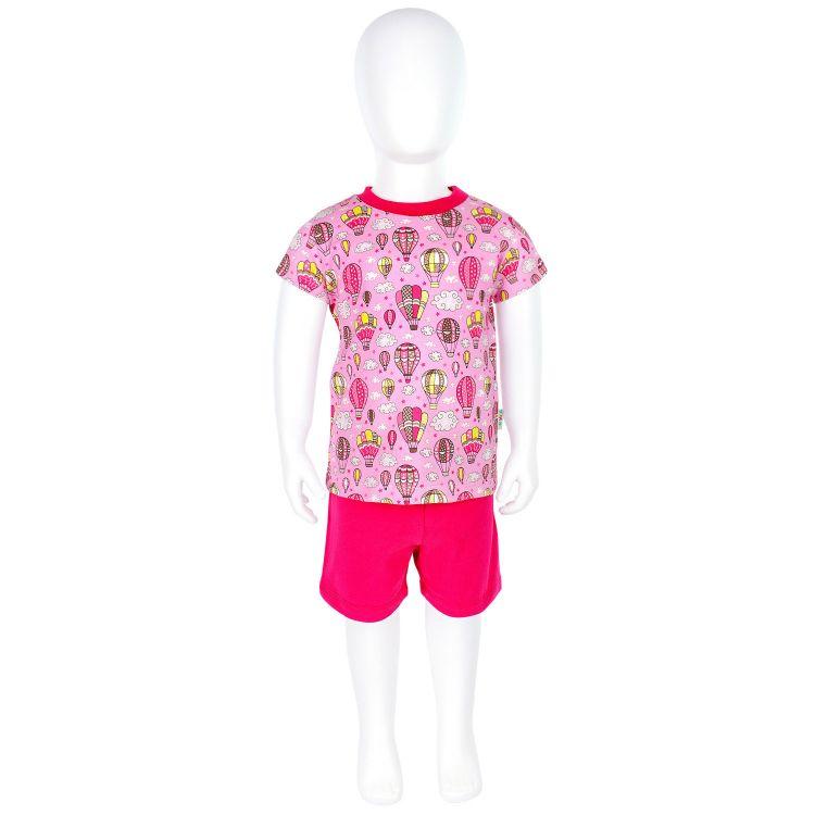 Pyjama-Set-Shortstyle MontgolfiereBalloons-Pink