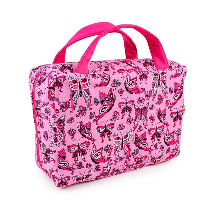 Reisetasche PrettyButterflies-PinkAndBlack