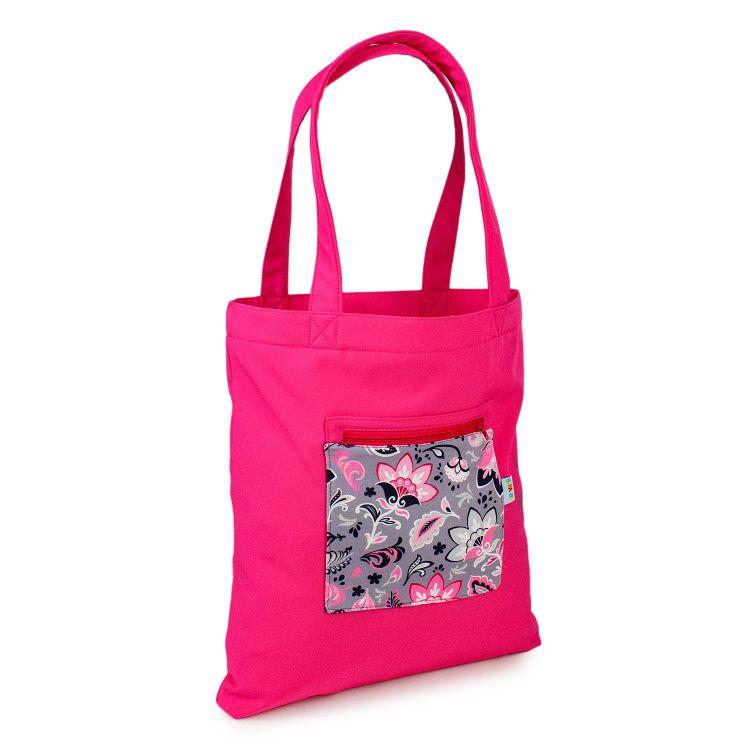Softshell-Shopper PaisleyFlowers