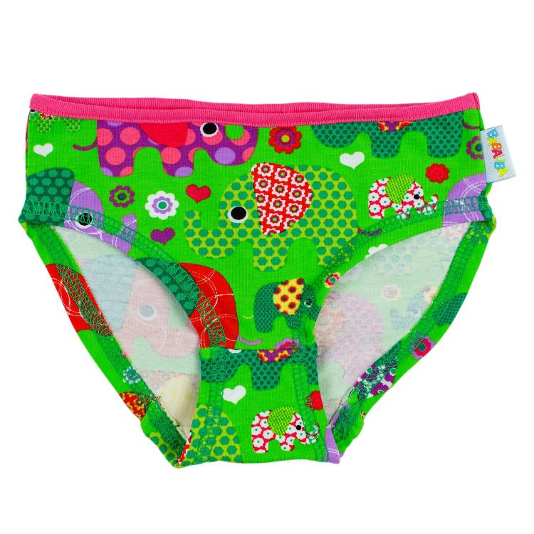 Kids-Underpants - BabaubaFantiGirl-Green-CyklameEdition