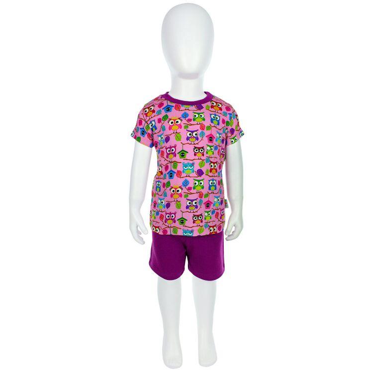 Pyjama-Set-Shortstyle BabaubaHoots-Pink