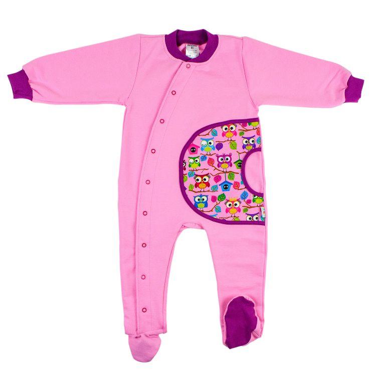 Uni-Strampler BabaubaHoots-Pink