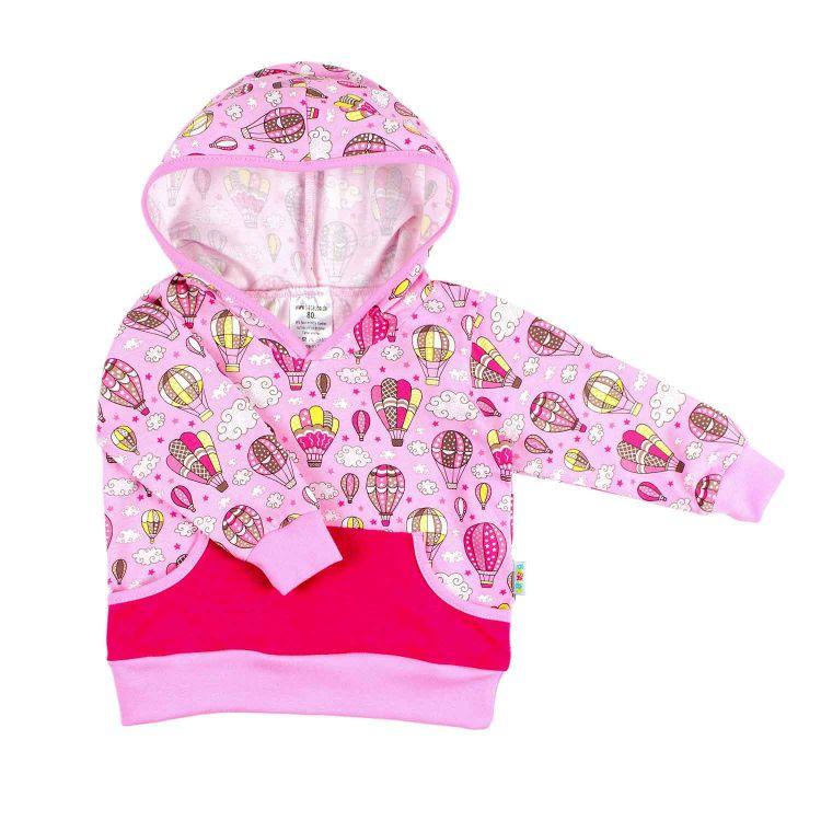 Pocket-Hoodie MontgolfiereBalloons-Pink