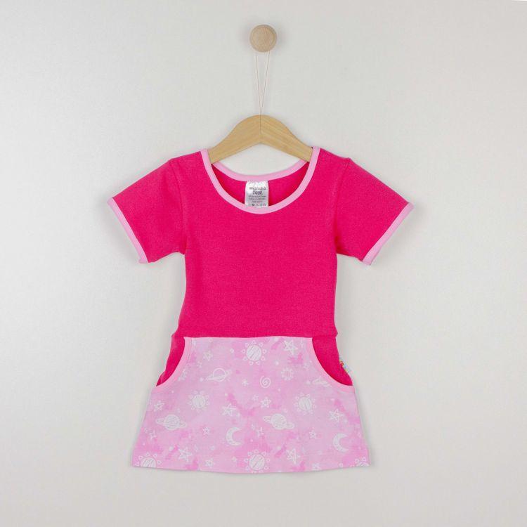 Kids-Kurzarm-PocketDress - DreamyGalaxy-Pink