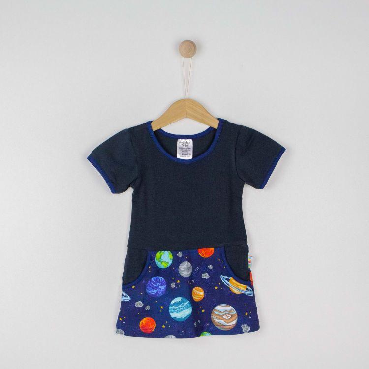 Kids-Kurzarm-PocketDress - BabaubaPlanets