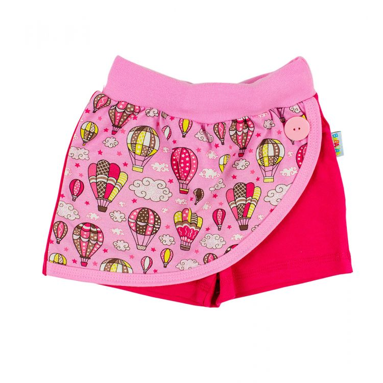 Skorts - MontgolfiereBalloons-Pink