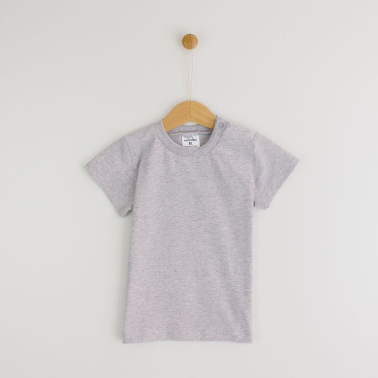 Kids-Uni-T-Shirt - Grau-Meliert