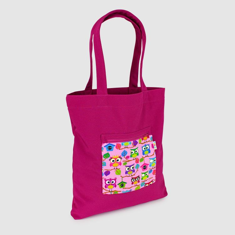 Softshell-Shopper BabaubaHoots-Pink