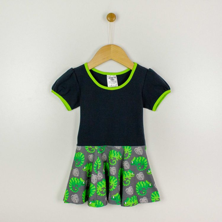 Kurzarm-Drehkleidchen ExoticChameleons-Green
