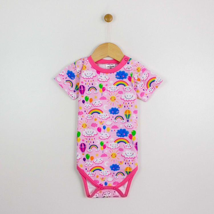 Kurzarmbody RainbowsAndClouds-Pink