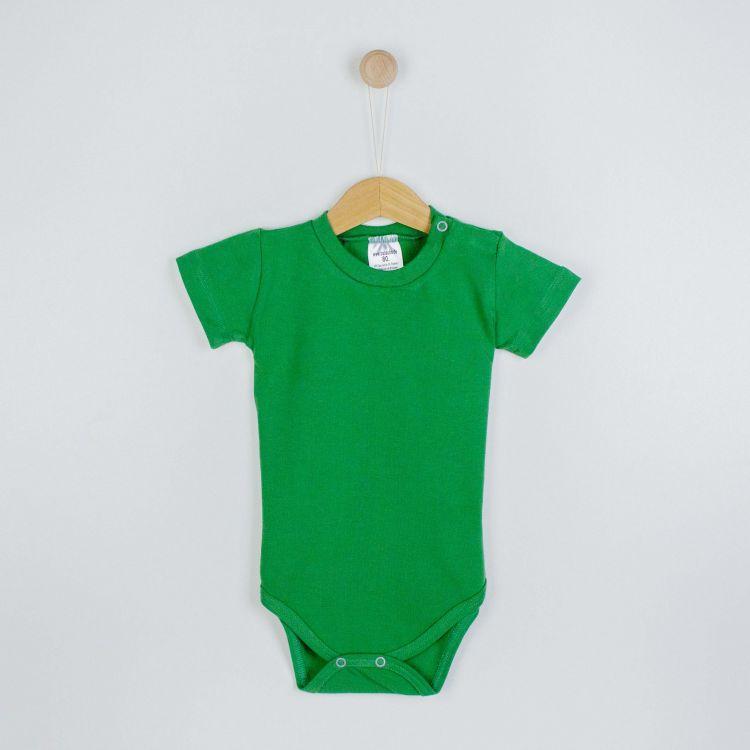 Baby-Uni-Kurzarmbody - Olivgrün