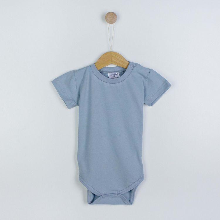 Baby-Uni-Kurzarmbody - Grau